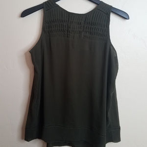 Banana Republic Olive Green Sleeveless Top NWT